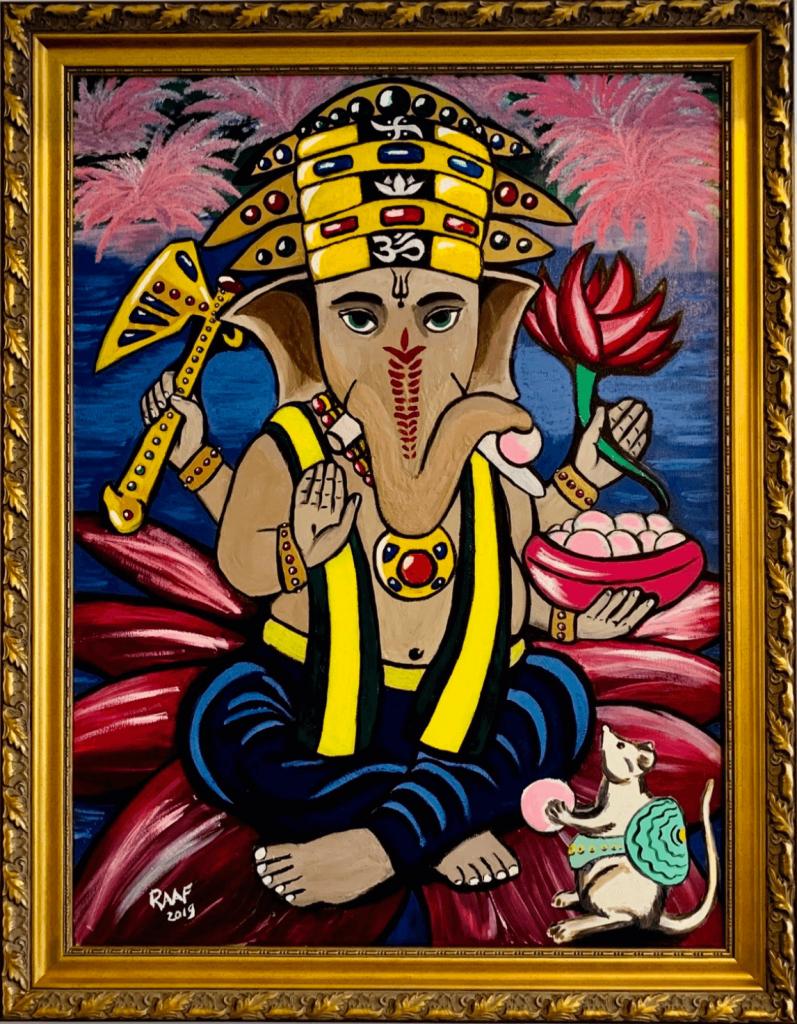 Ganesha_painting-by-raafpaintings