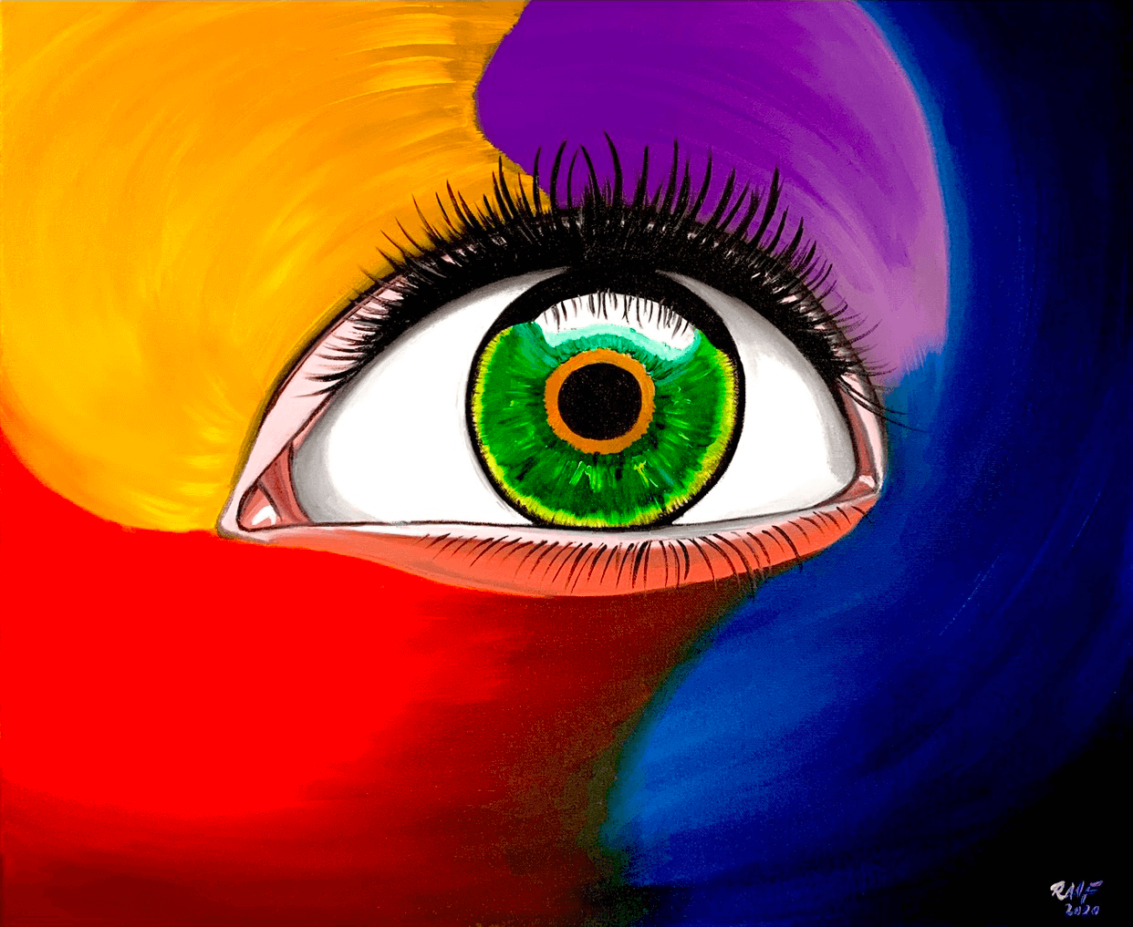 The_Eye_abstract_painting_by_raafpaintings