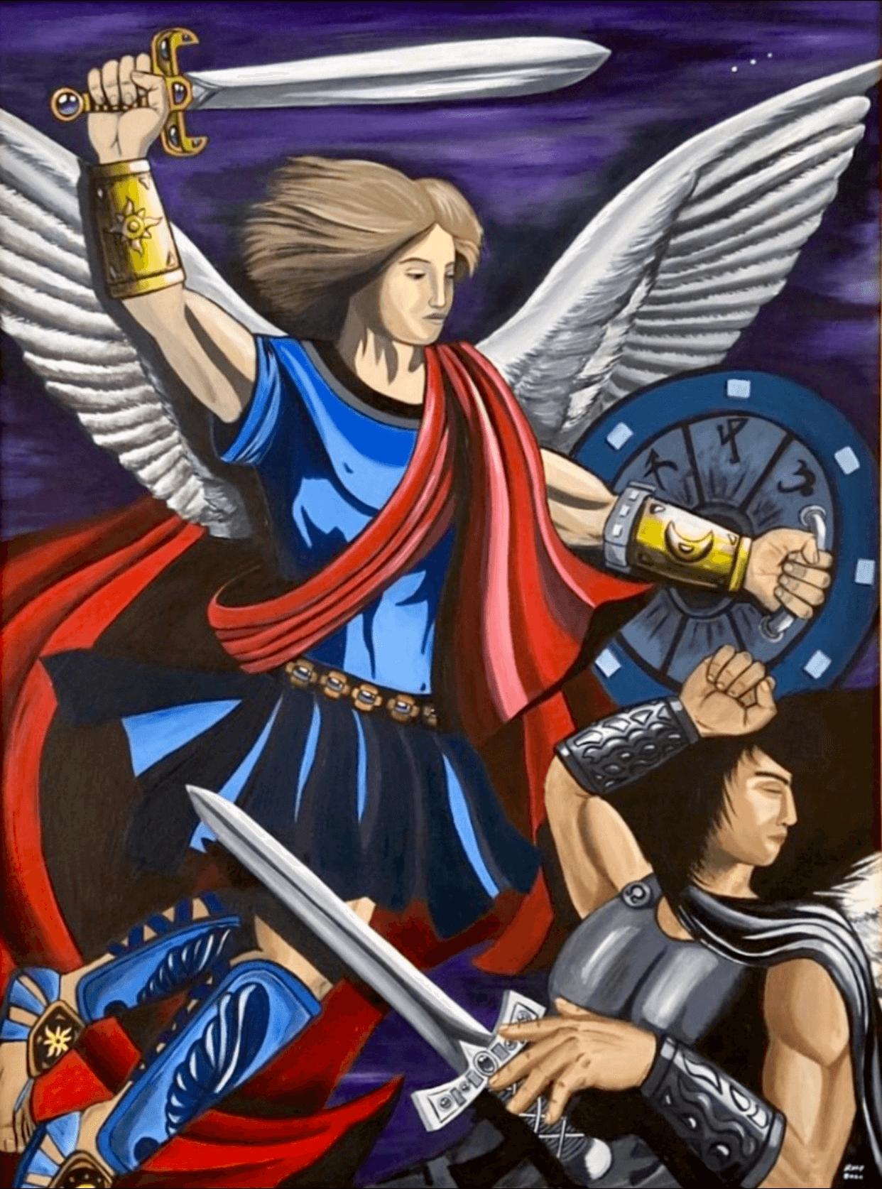 Archangel-Michael-by-raafpaintings