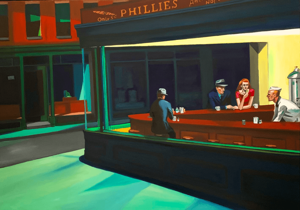 Nighthawks_remake_with_frame_by_raafpaintings_def