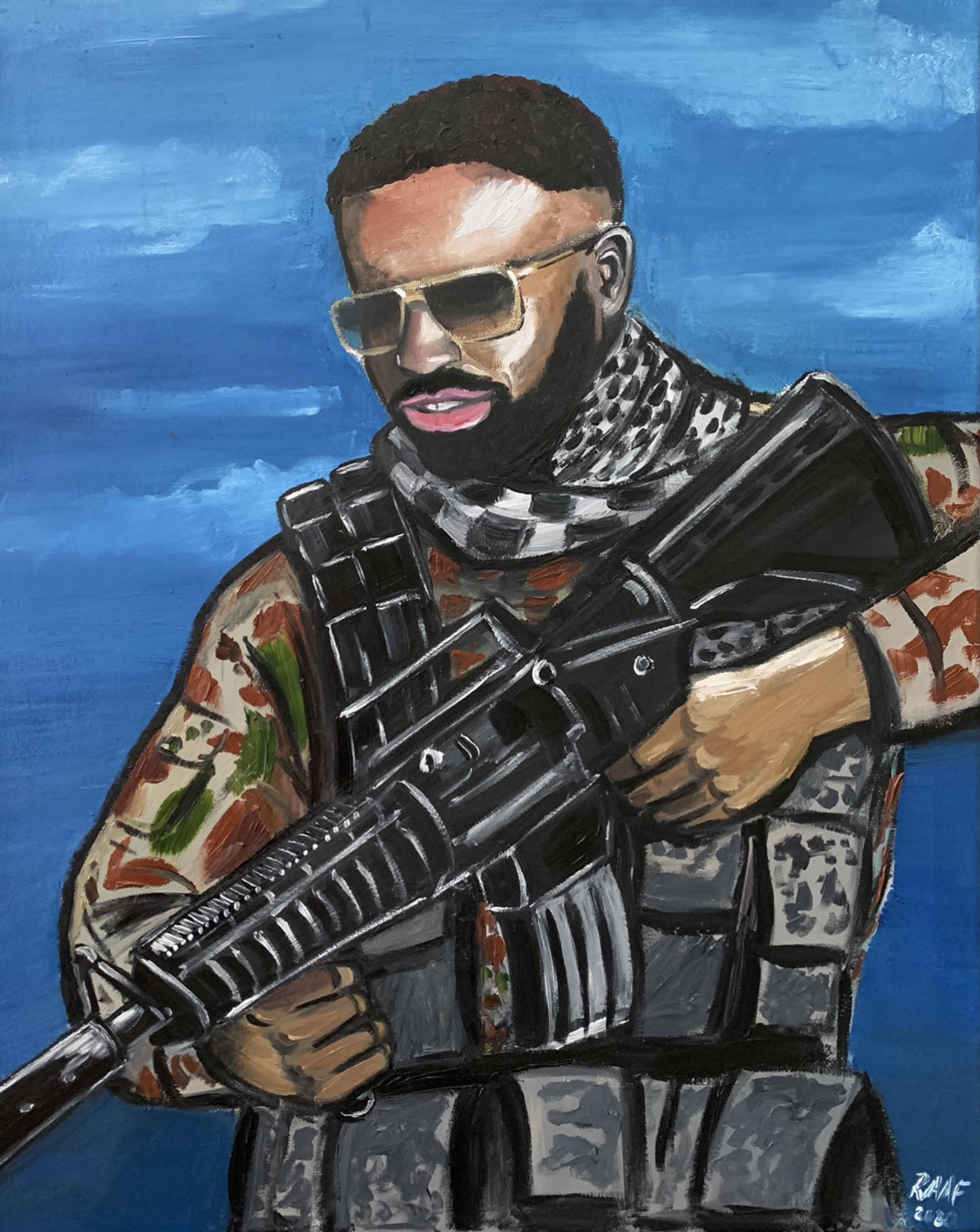 Portrait of a friend in army gear_by_raaf