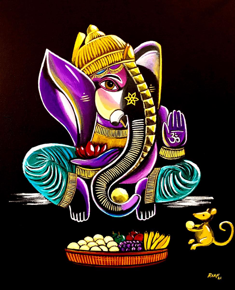 Ganesha_by_raafpaintings