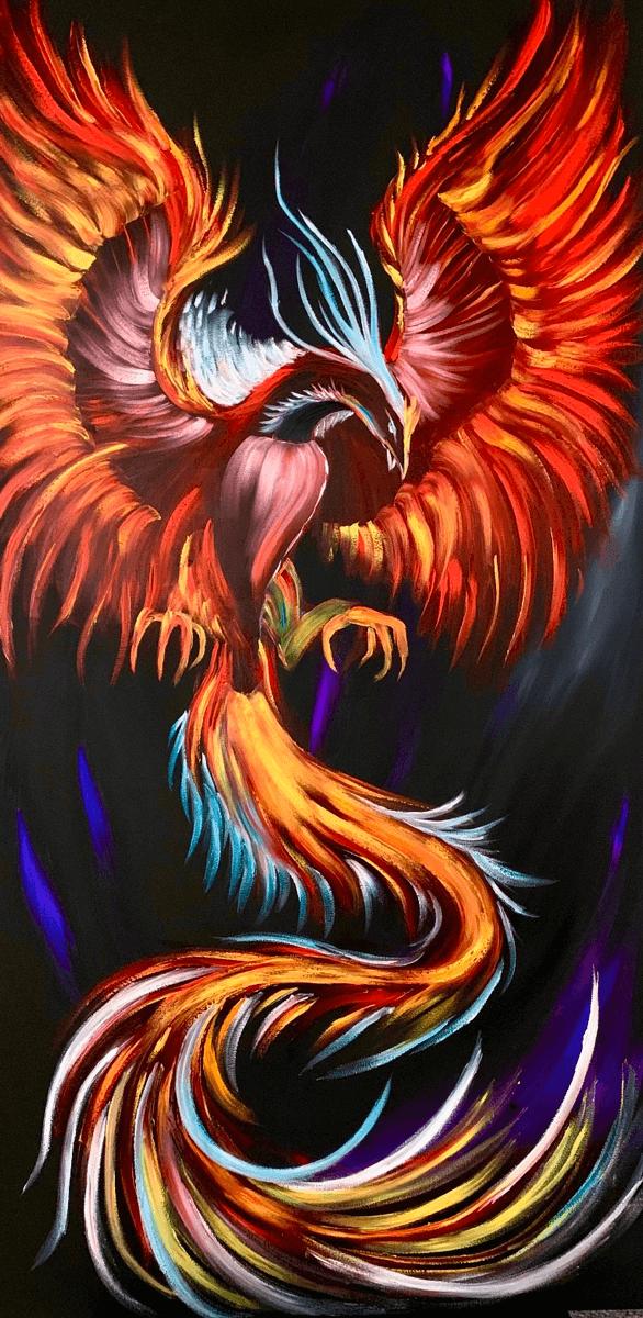 Phoenix-oilpainting