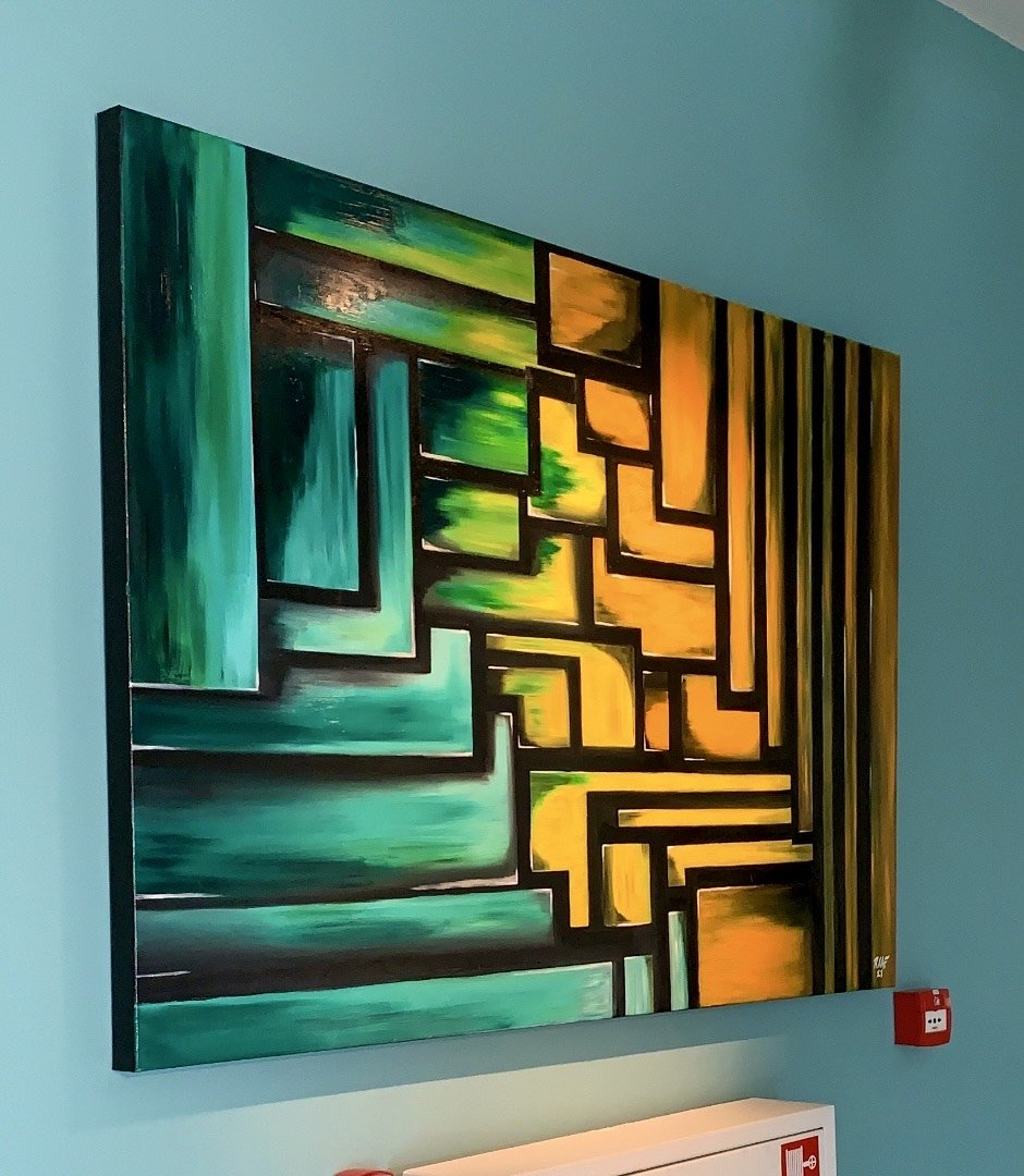 Nr.6 abstract-oilpainting